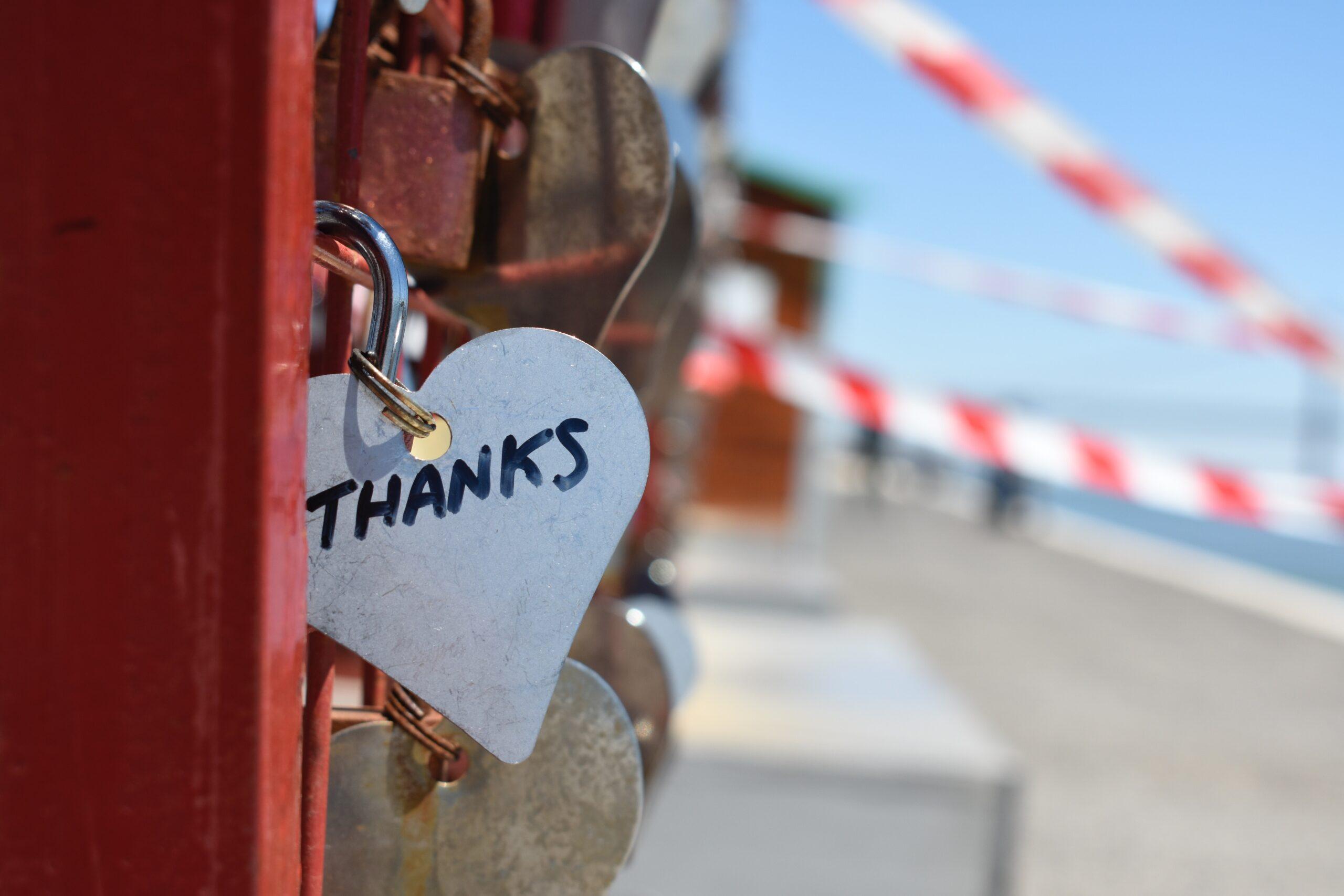 Locket that says thanks